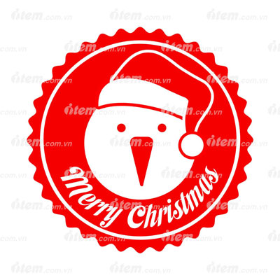 STICKER PHẢN QUANG MERRY CHRISTMAS 5