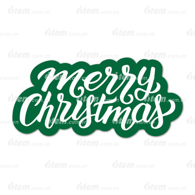 STICKER PHẢN QUANG MERRY CHRISTMAS 4