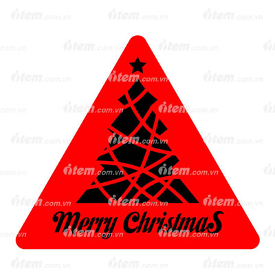 STICKER PHẢN QUANG MERRY CHRISTMAS 3