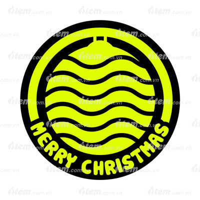 STICKER PHẢN QUANG MERRY CHRISTMAS 2