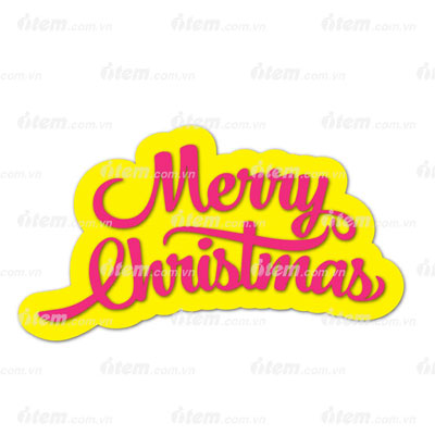 STICKER PHẢN QUANG MERRY CHRISTMAS 7