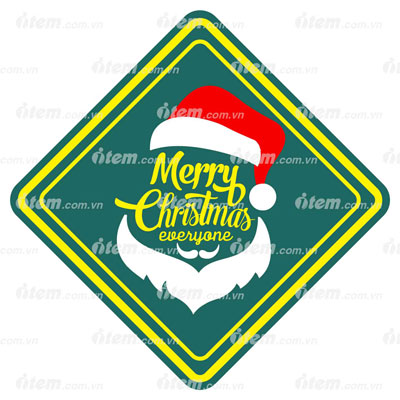 STICKER PHẢN QUANG MERRY CHRISTMAS 6