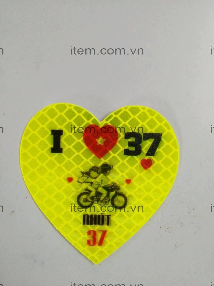 TEM PHẢN QUANG I LOVE 37