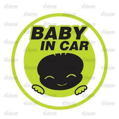 TEM PHẢN QUANG XE HƠI BABY IN CAR TRÒN