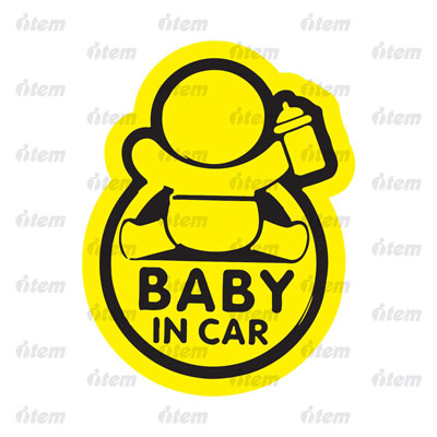 TEM PHẢN QUANG XE HƠI BABY IN CAR 1