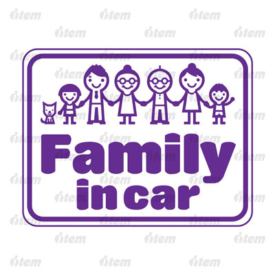 TEM PHẢN QUANG XE HƠI FAMILY IN CAR