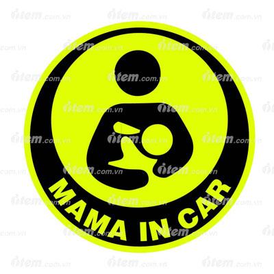 TEM PHẢN QUANG XE HƠI MAMA IN CAR