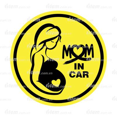 TEM PHẢN QUANG XE HƠI MOM IN CAR