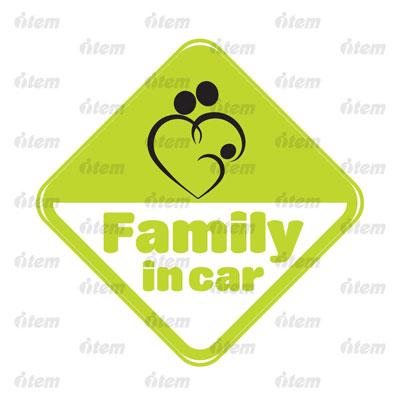 TEM PHẢN QUANG XE HƠI FAMILY IN CAR 1