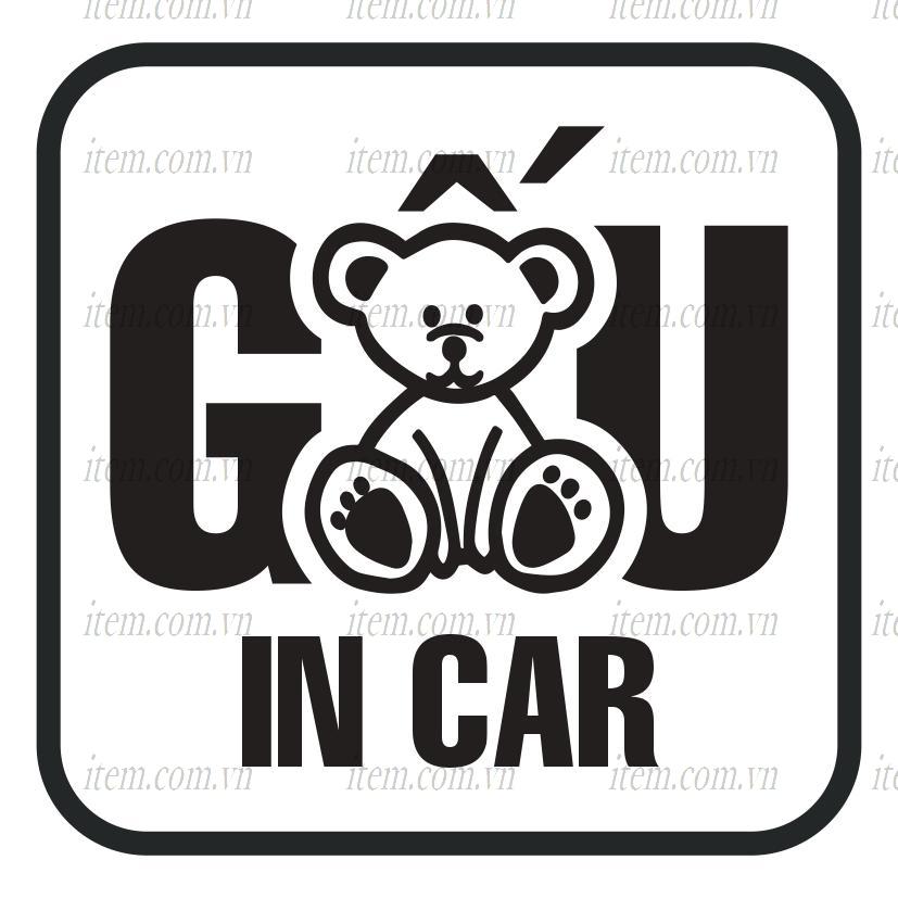 TEM PHẢN QUANG XE HƠI GẤU IN CAR
