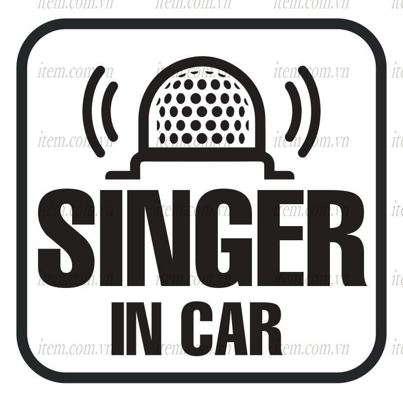 TEM PHẢN QUANG XE HƠI SINGER IN CAR