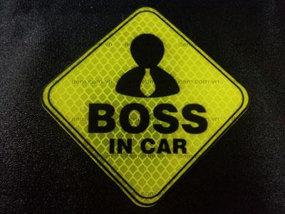 TEM PHẢN QUANG XE HƠI BOSS IN CAR
