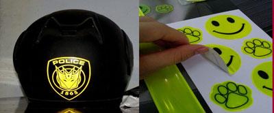 Tem phản quang dán mũ bảo hiểm đẹp độc lạ