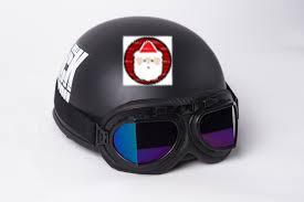 Tem phản quang dán mũ bảo hiểm đón Giáng sinh